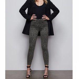 Good American Leopard skinny Jeans High Waist NWT